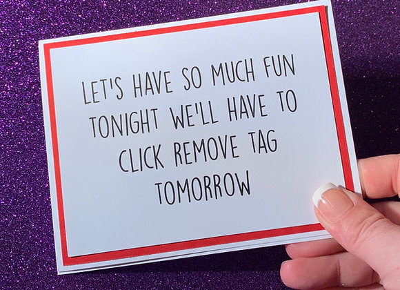 Remove Tag Snarky Card