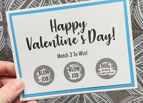 Valentine's Hug Scratch Off Snarky Card