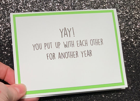 Yay Another Year Snarky Card