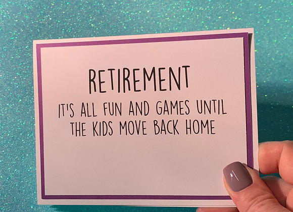 Kids Move Home Snarky Card
