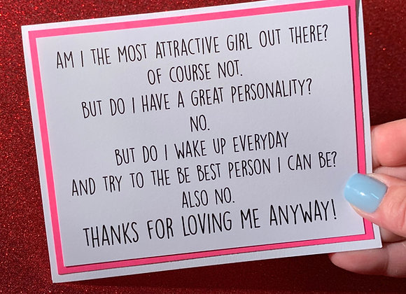 Most Attractive Snarky Card