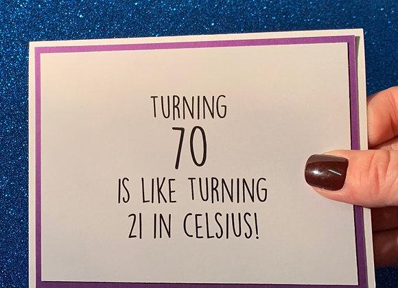 Seventy Snarky Card