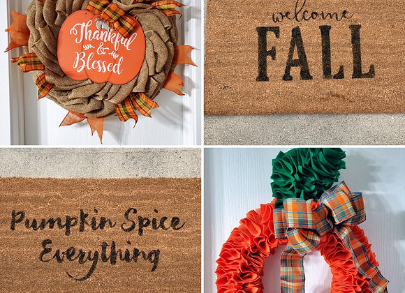 Fall Wreath & Doormat Set