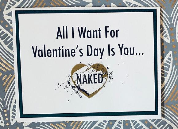 Naked Valentine's Scratch Off Snarky Card