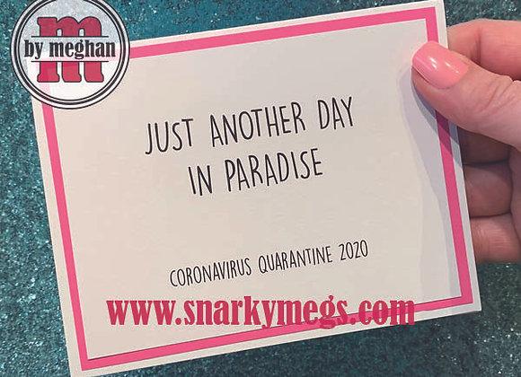 Coronavirus Card - Paradise
