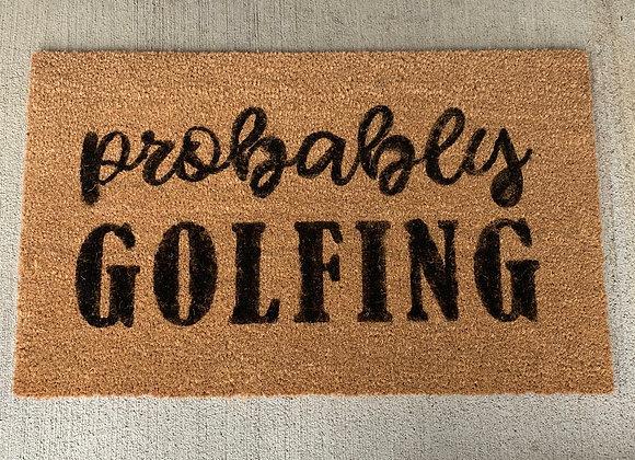 Golfing Door Mat