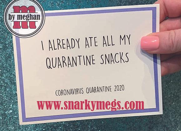 Coronavirus Card - Snacks