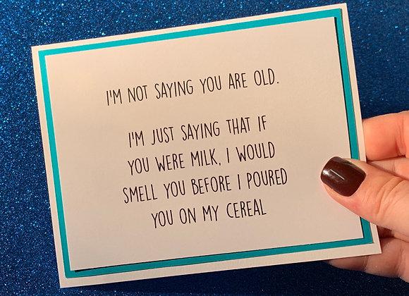 Milk Snarky Card
