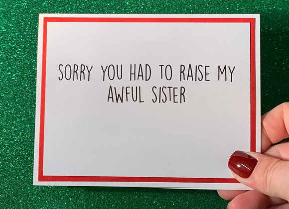 Awful Sister Snarky Card