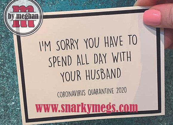 Coronavirus Card - With Husband