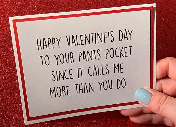 Pants Pocket Snarky Card