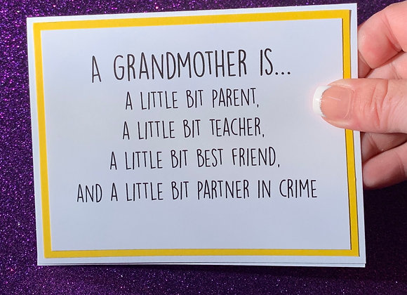 A Grandmother Snarky Card