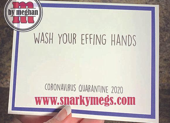 Coronavirus Card - Wash