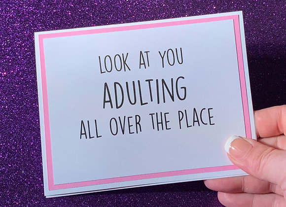 Adulting Snarky Card