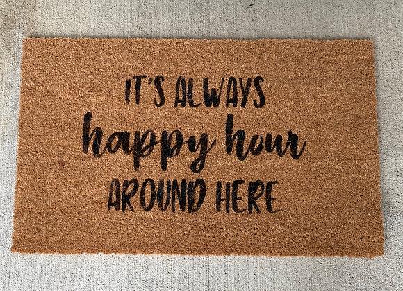 Happy Hour Door Mat