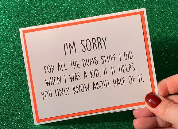Dumb Stuff Snarky Card