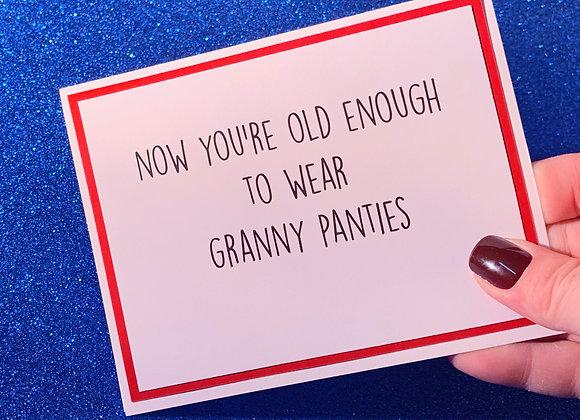 Granny Panties Snarky Card