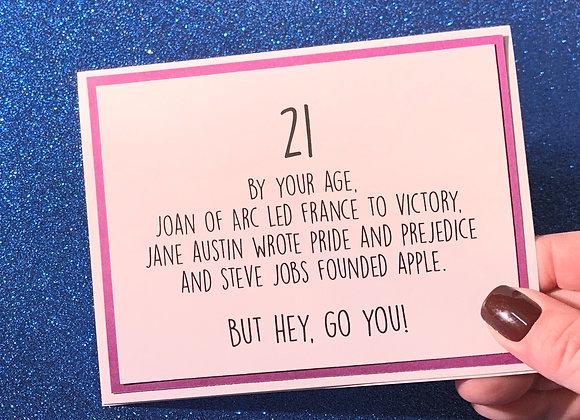 21 Snarky Card