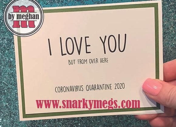 Coronavirus Card - Over Here
