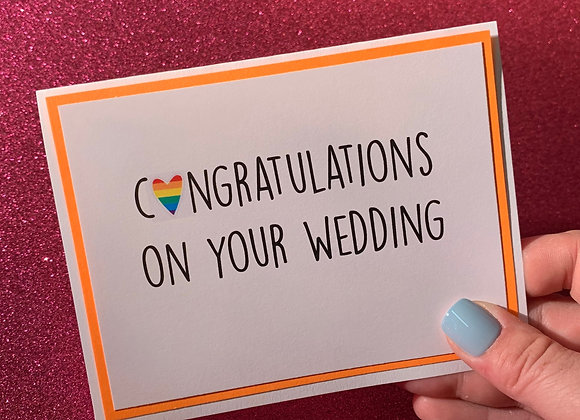 Congratulations On Wedding Snarky Card
