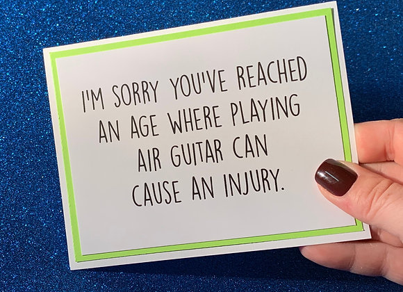 Air Guitar Snarky Card