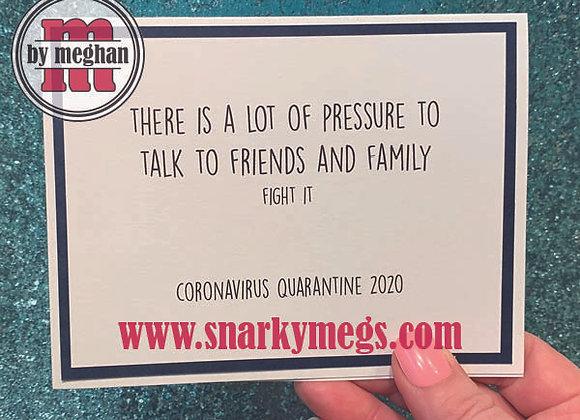 Coronavirus Card - Family