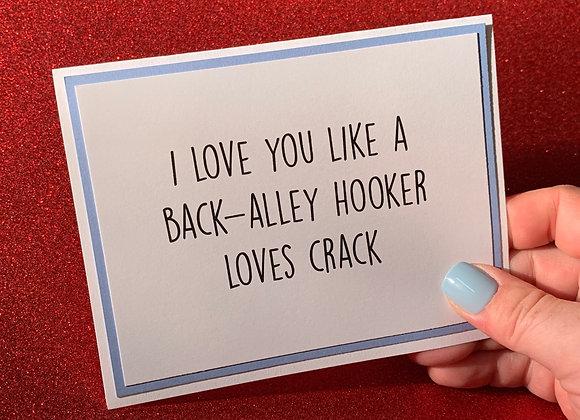 Back-Alley Hooker Snarky Card