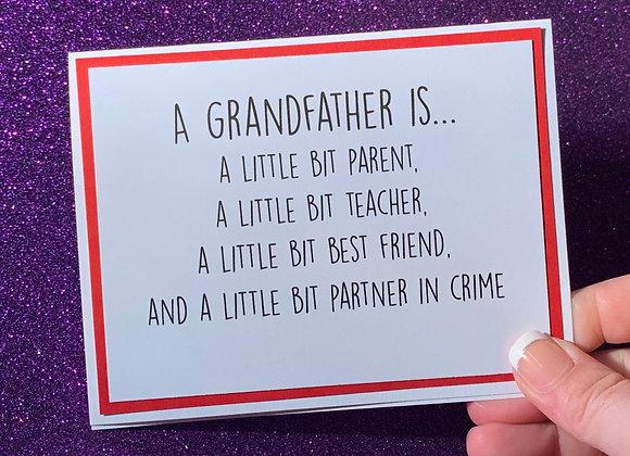 A Grandfather Snarky Card