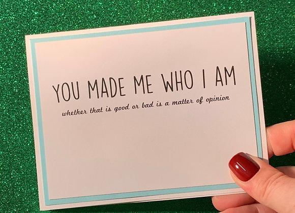 Who I Am Snarky Card