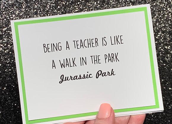 Walk In Park Snarky Card