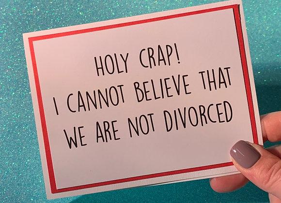 Holy Crap Snarky Card