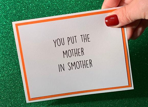 Smother Snarky Card