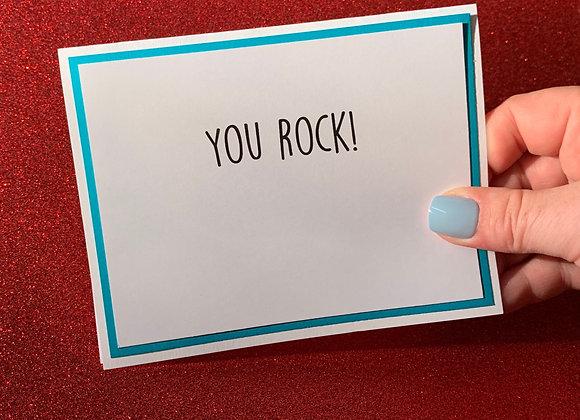 You Rock Snarky Card