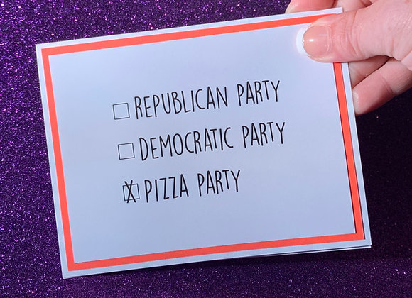 Pizza Party Snarky Card