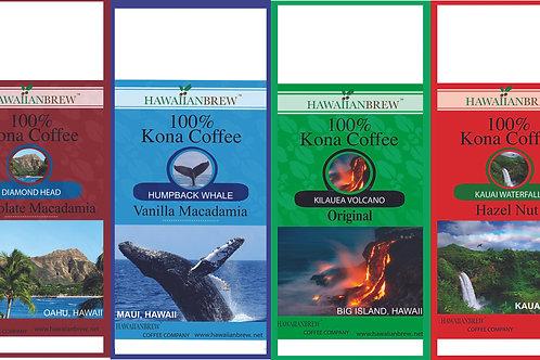100% Kona Coffee Regular - Scenic Gift Set (4)