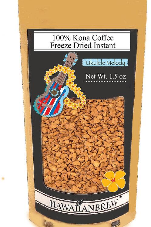 100% Kona Freeze Dried Instant Coffee 1.5 oz