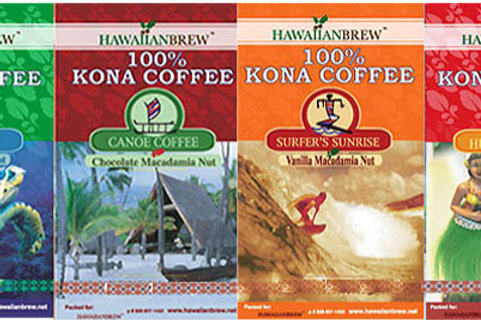 100% Kona Gift Set - (4) 1.75 oz Bags All 4 flavors