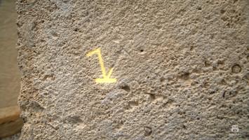 Vizualni efekt - posvetlitev slabo vidnega kamnoseškega znaka