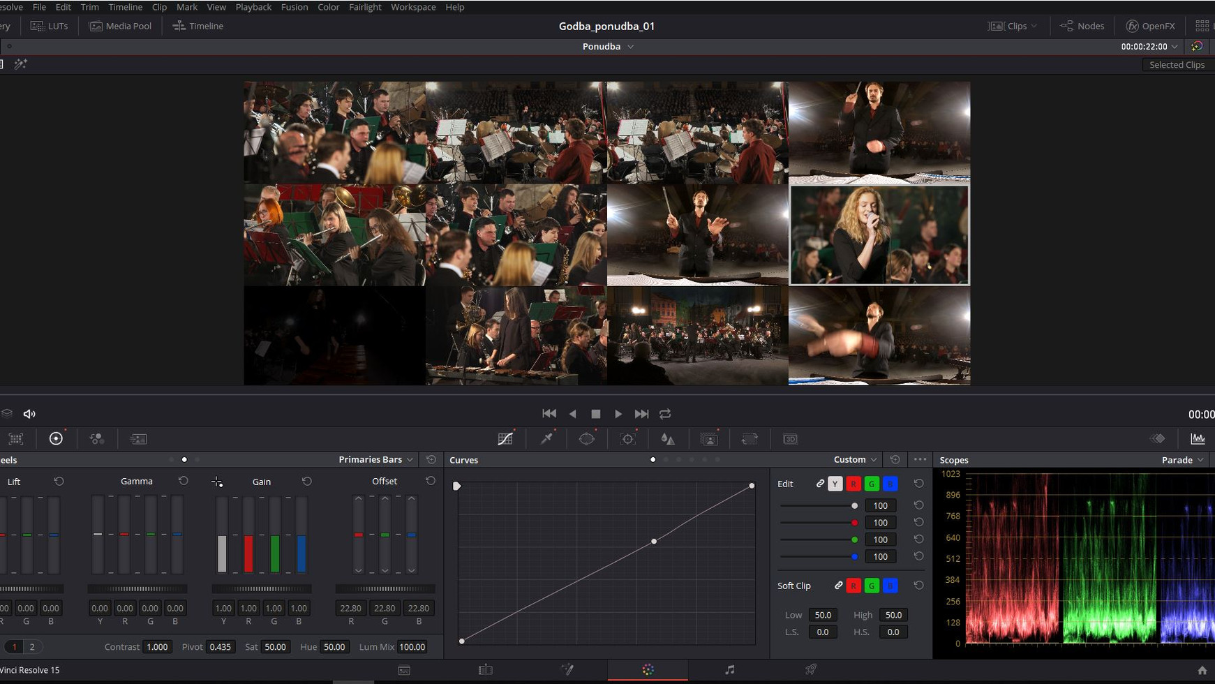 Proces usklajevanja kamer - camera matching