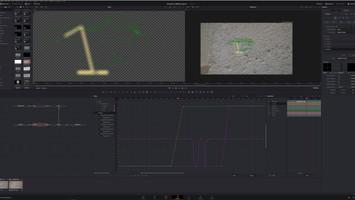 Animiran vizualni efekt za poudarek slo vidnega kamnoseškega znaka.