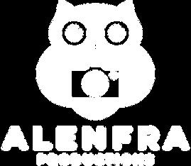 Alenfra logotip - negativ - prosojno oza