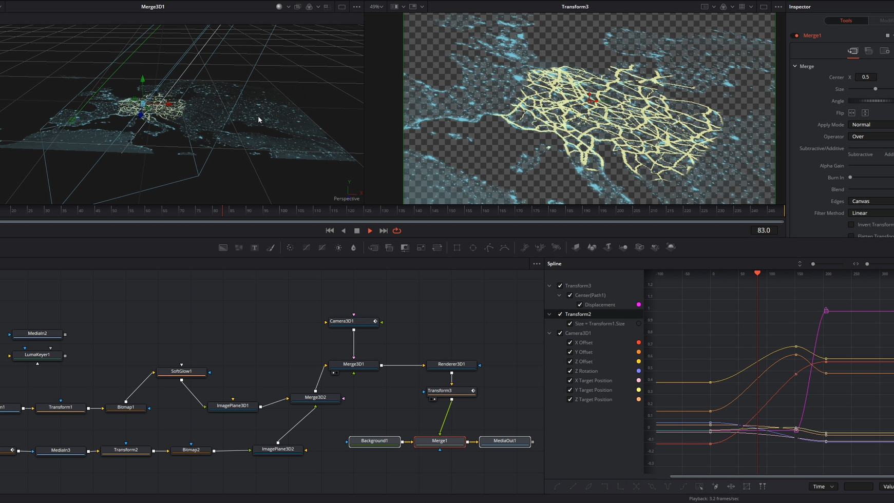 Animacij za prikaz transportnih poti