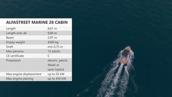 Predstavitveni video barke Alfastreet Marine 28 Cabin