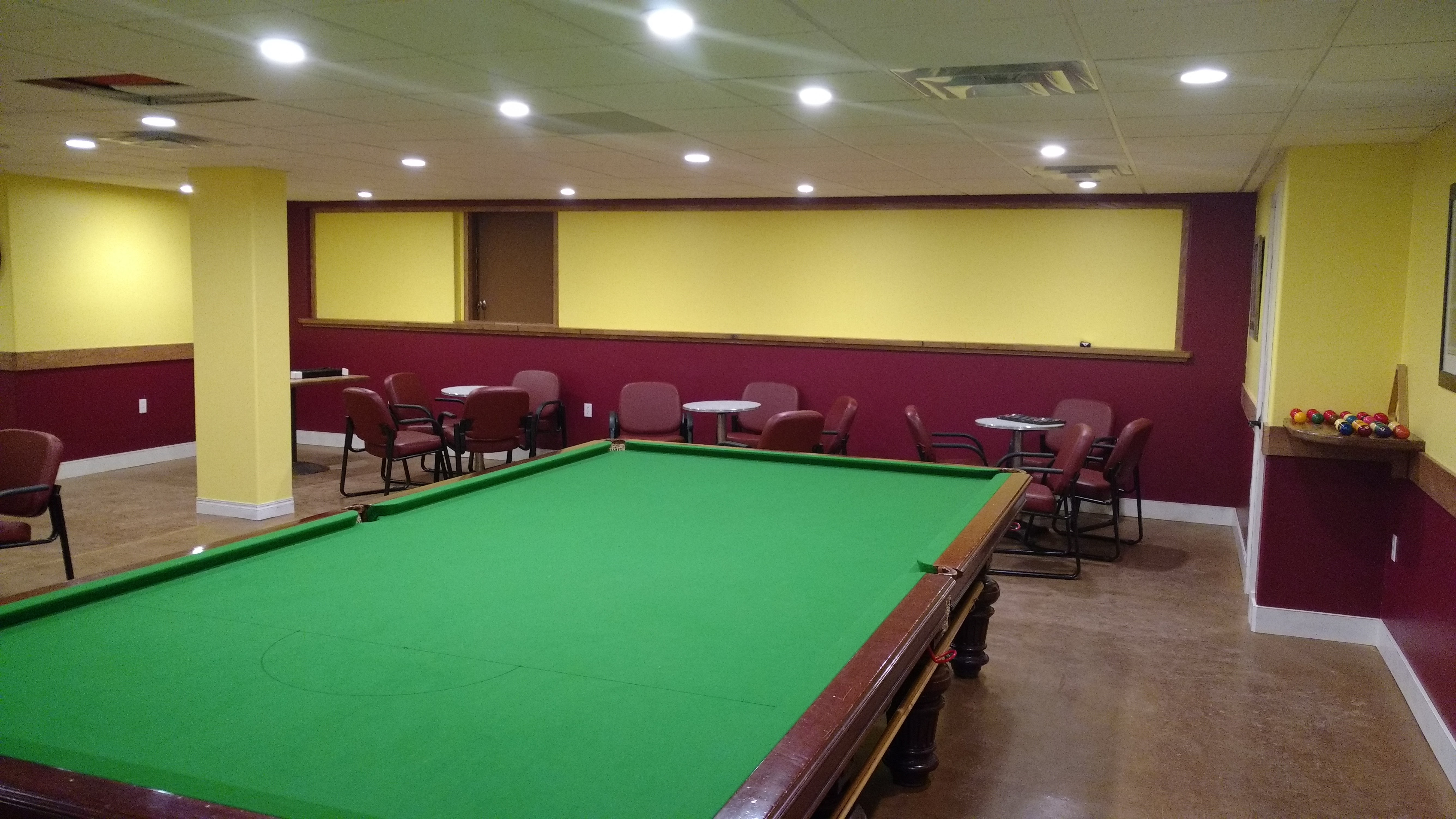 Seating in Pool Table area
