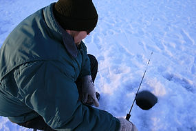 Ice Fishing on Lake McGregor