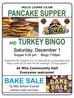Pancake Supper and Turkey Bingo