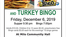 Pancake Supper and Turkey Bingo - Dec 6th
