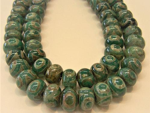 "Green Agate 'Dzi"""