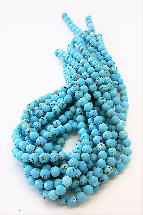 8mm Round Blue Howlite