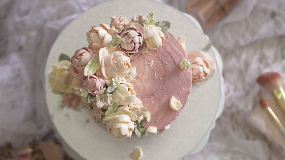 PINK Floral Couture Cake